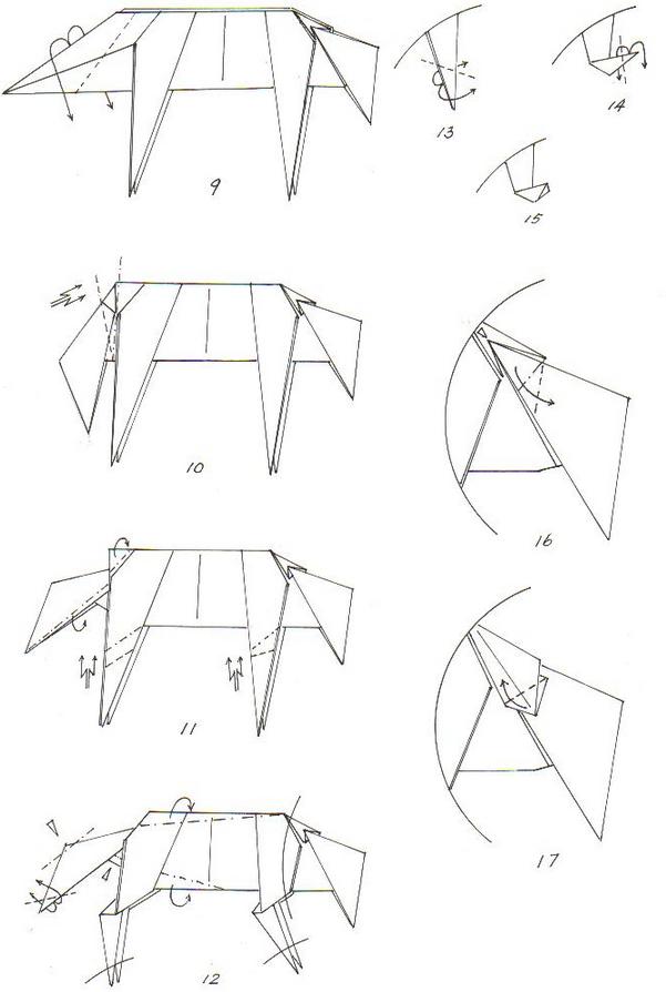 волк оригами 2