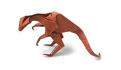 динозавр оригами