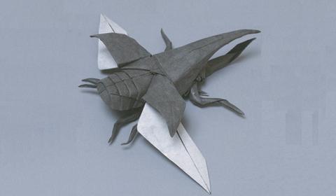жук-геркулес оригами