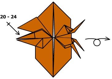 жук носорог оригами 25
