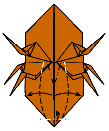 жук носорог оригами 34