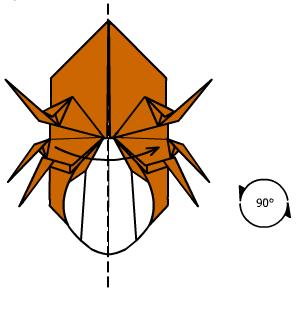 жук носорог оригами 35