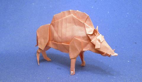 кабан оригами