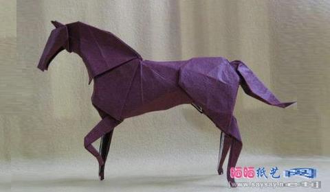 конь оригами