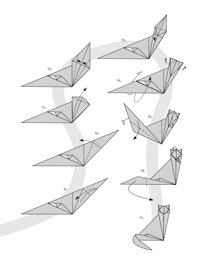 кот оригами 1 кот оригами 2