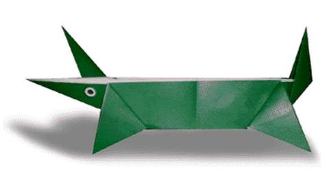 крокодила оригами. Схема и