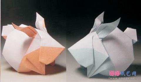 Кролик Кролик оригами Схема: