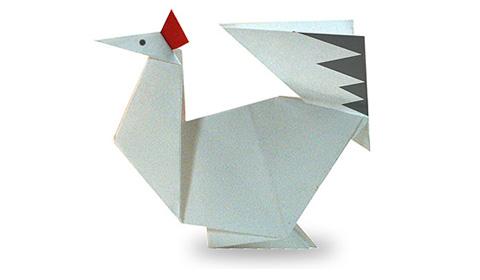 курица оригами