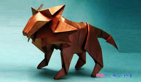 лев оригами