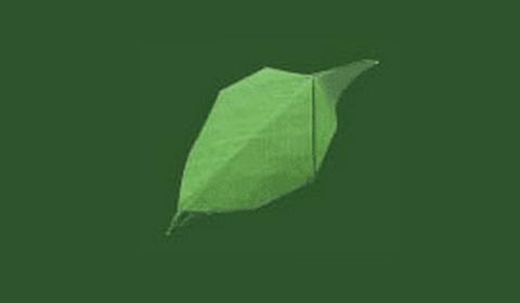листок оригами