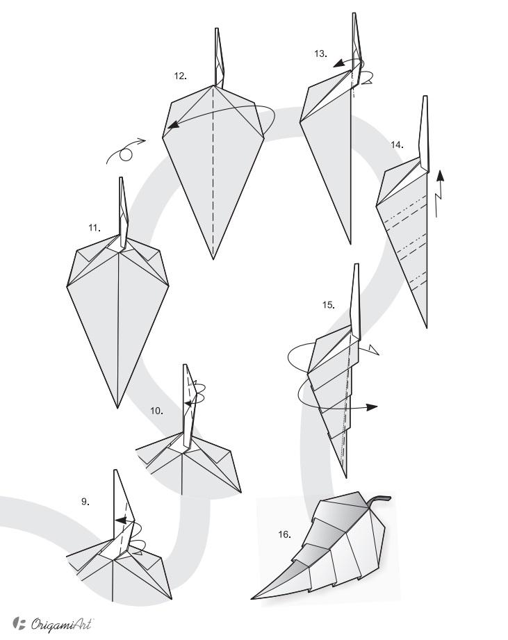 Оригами из одного листа простое