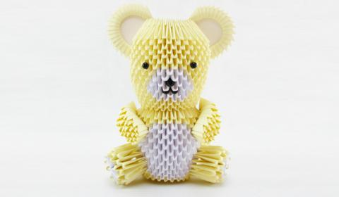 медведь модульное оригами