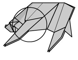 медведь оригами 40