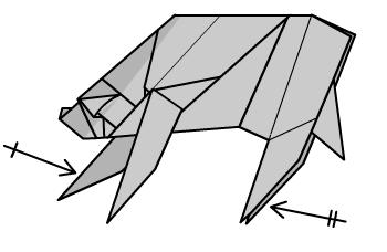 медведь оригами 43