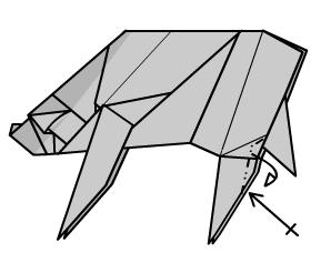 медведь оригами 44