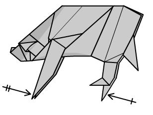 медведь оригами 46