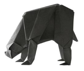 медведь оригами 47
