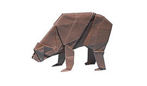 медведь оригами
