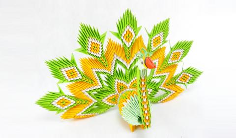 павлина модульное оригами?