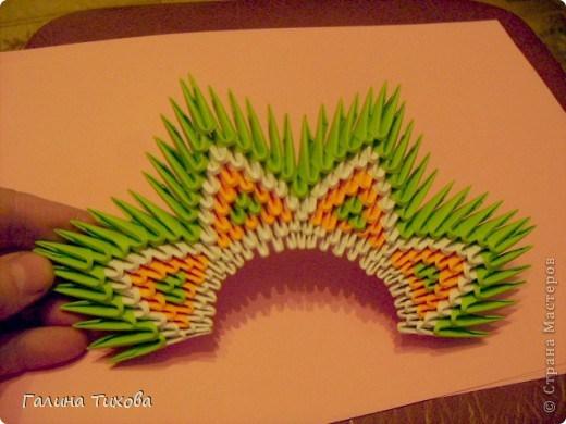 модульное оригами павлин11