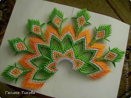 модульное оригами павлин33