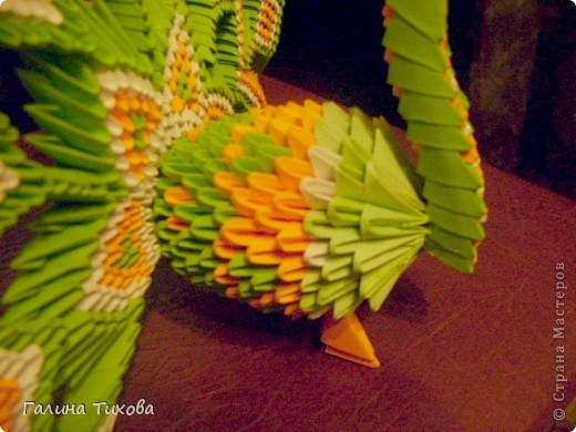 модульное оригами павлин46