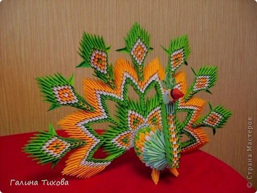 модульное оригами павлин47