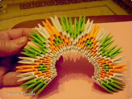 модульное оригами павлина схема