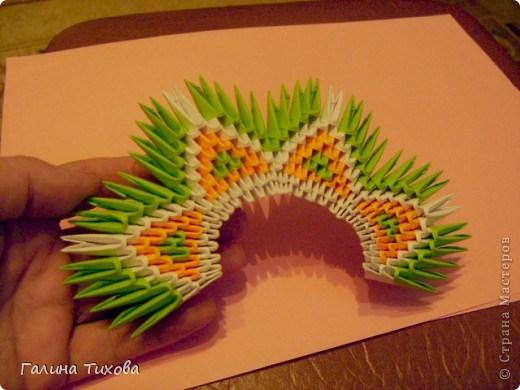 модульное оригами павлин9