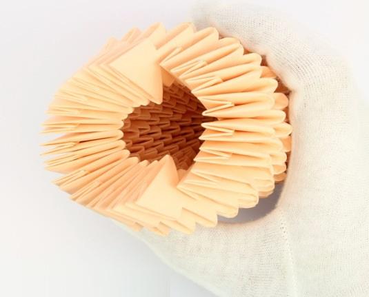 модульное оригами птица 15