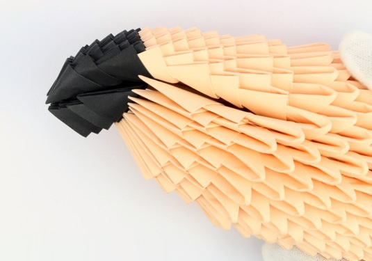 модульное оригами птица 24
