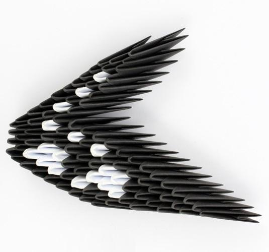 модульное оригами птица 26