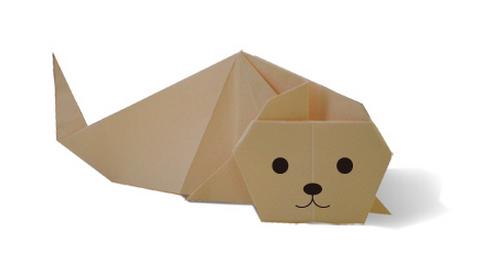 морской котик оригами