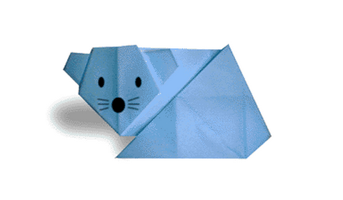Мышь(+видео). мышь 2 оригами