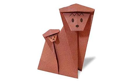 обезьяна 2 оригами
