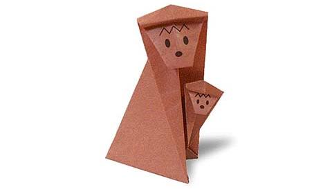 обезьяна 3 оригами