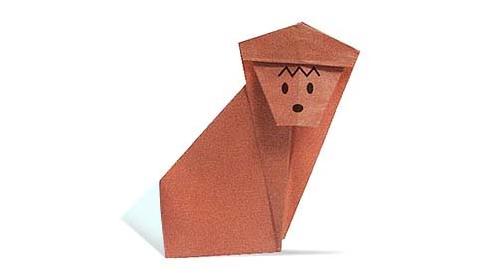 обезьяна 4 оригами