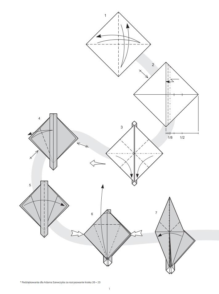 оригами динозавр1