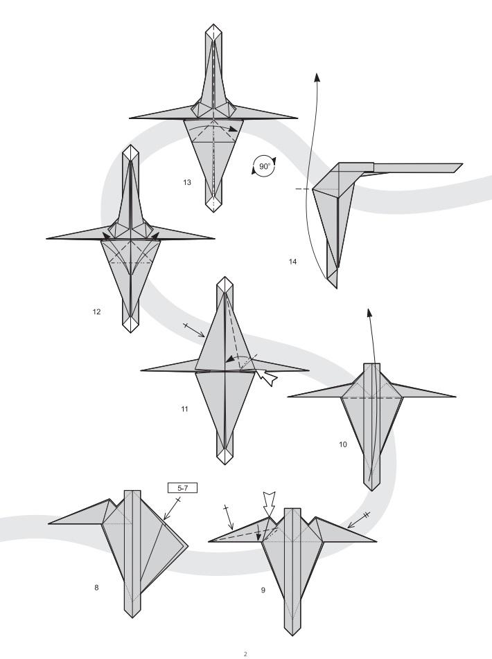 оригами динозавр2