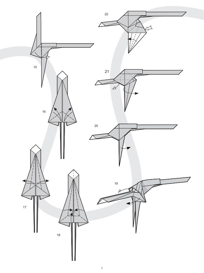 оригами динозавр3
