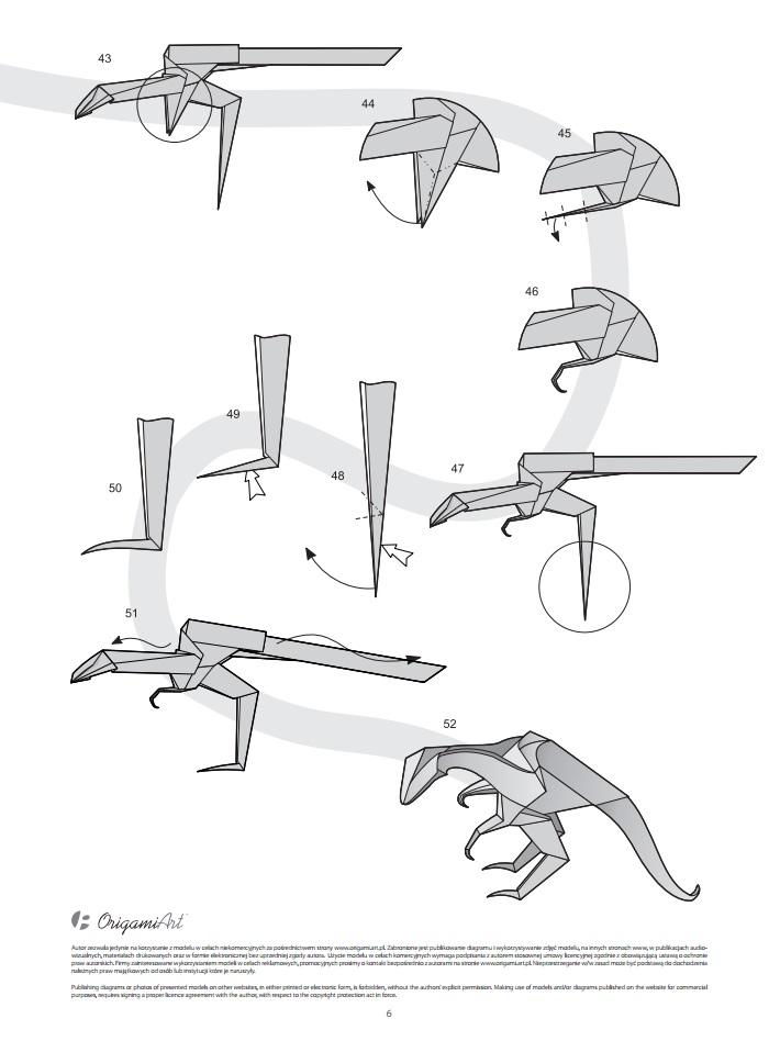 оригами динозавр6
