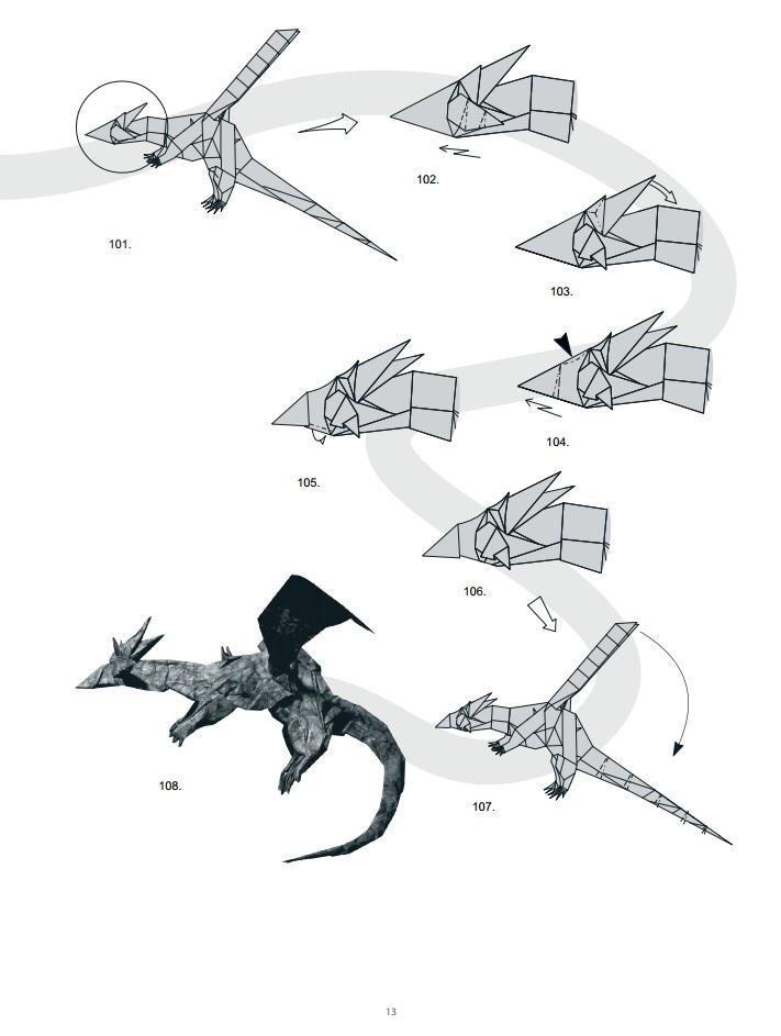 оригами дракон13