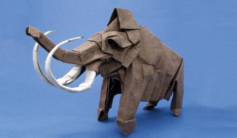оригами мамонт