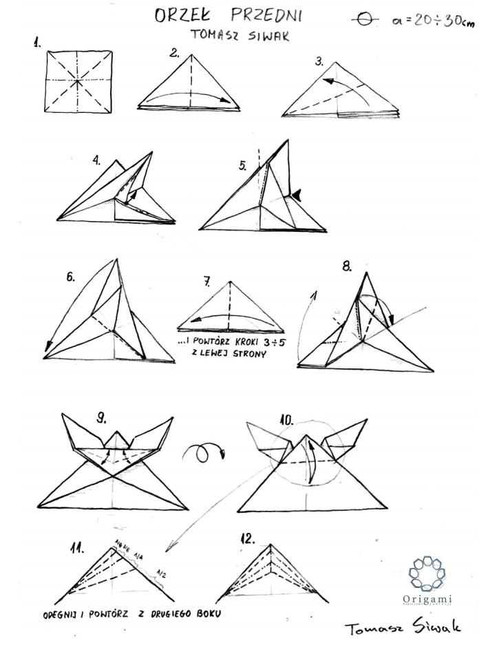 оригами орёл1
