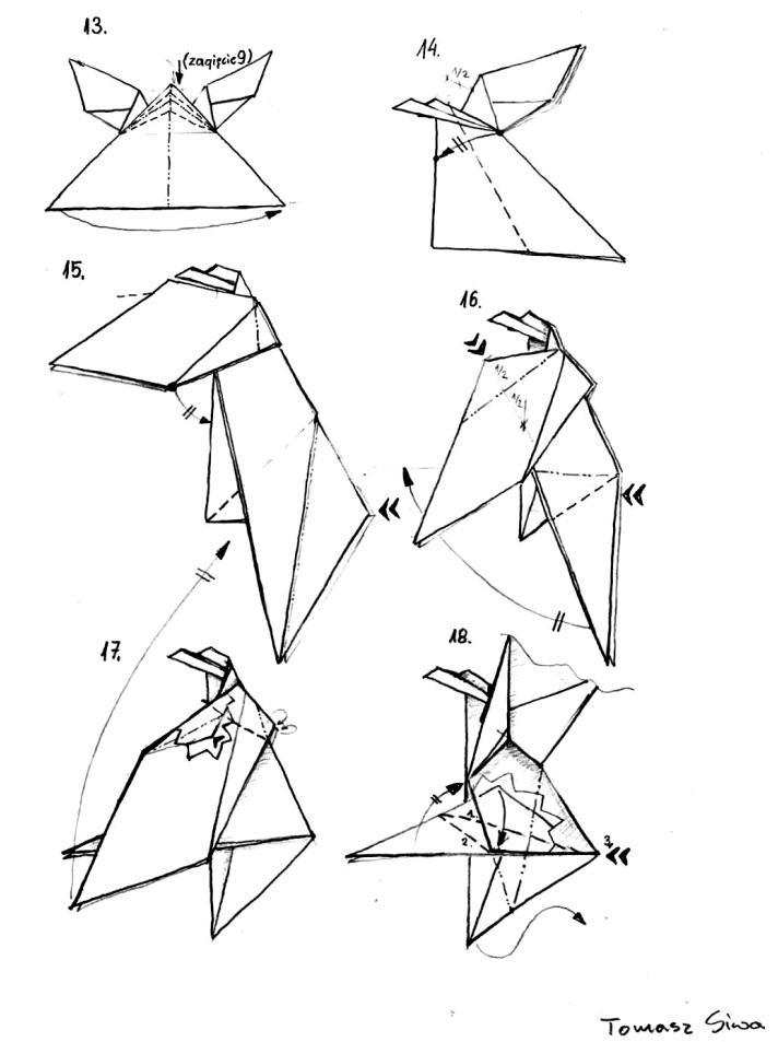 оригами орёл2