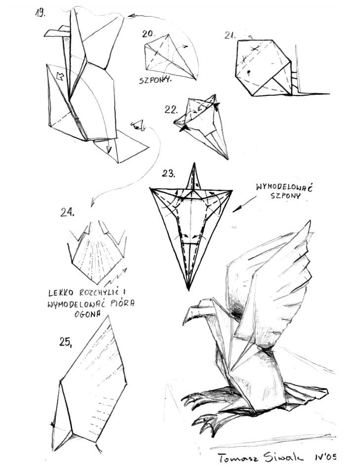 оригами орёл3