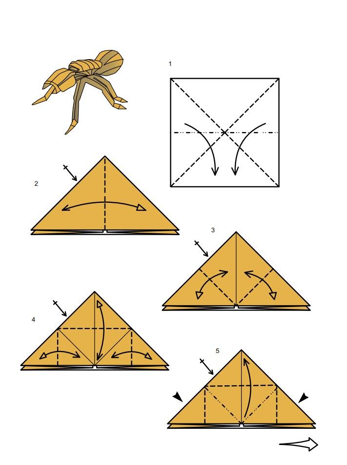 оригами тарантул1