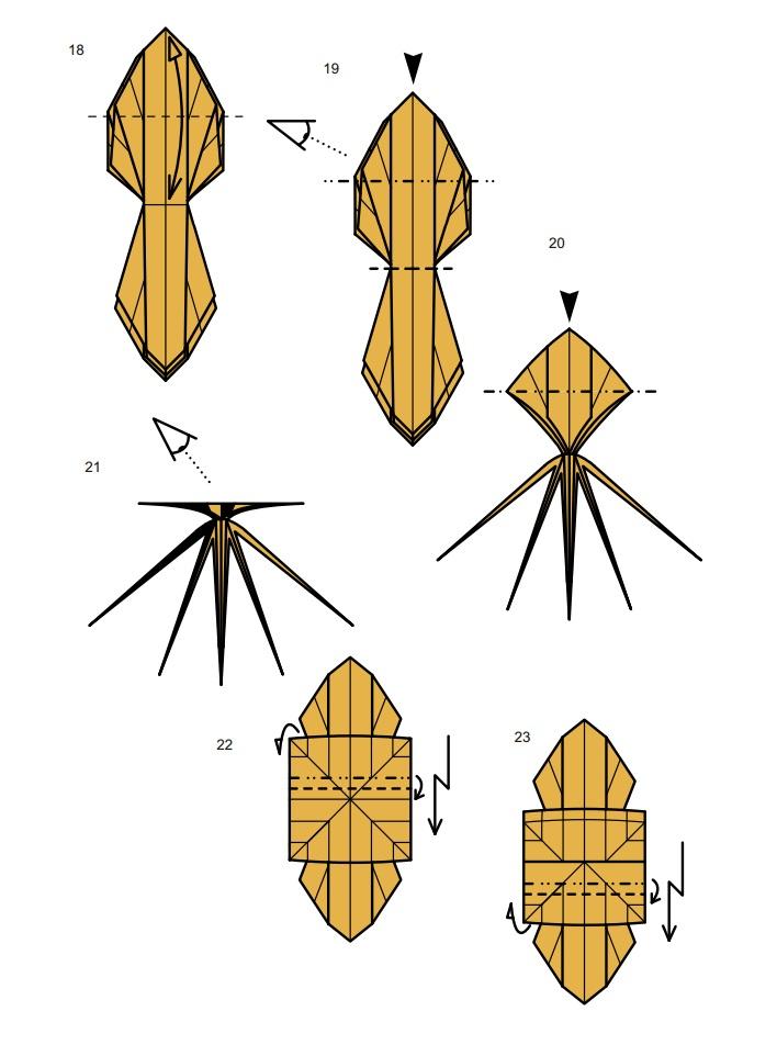 оригами тарантул4