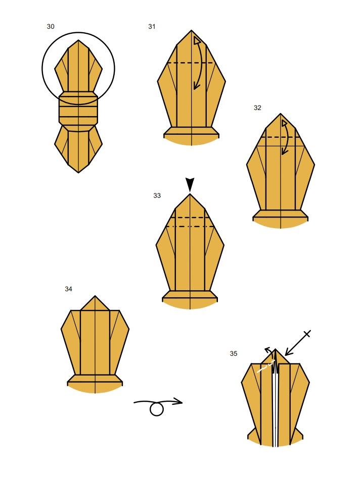 оригами тарантул6