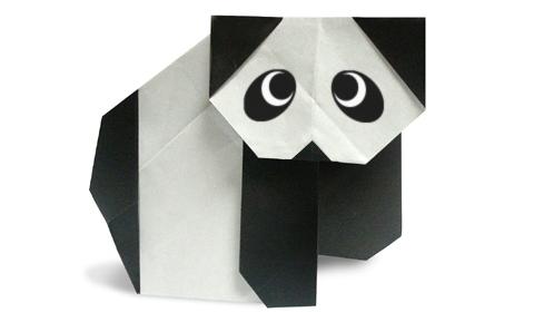 панда 2 оригами